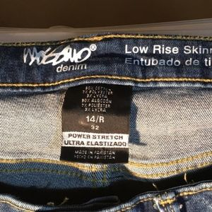 Women's Mossimo jeans skinny fit 14
